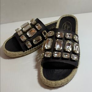 Browns Couture rhinestone sandals